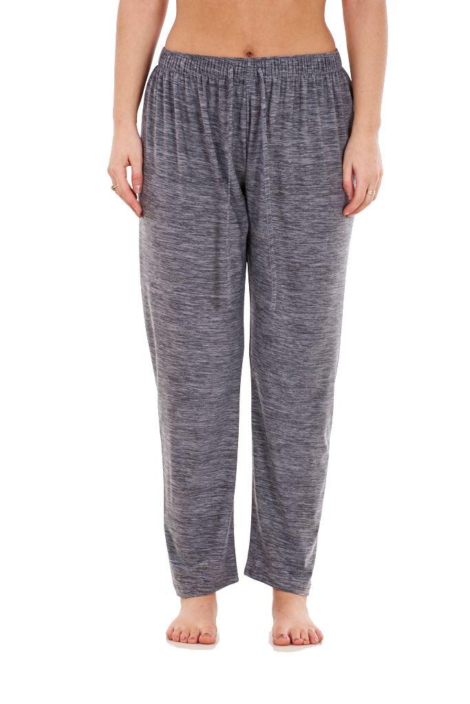 Ladies-Women-Trouser-Elasticated-Tapered-High-waist-ITY-Regular-Pants-Black thumbnail 11