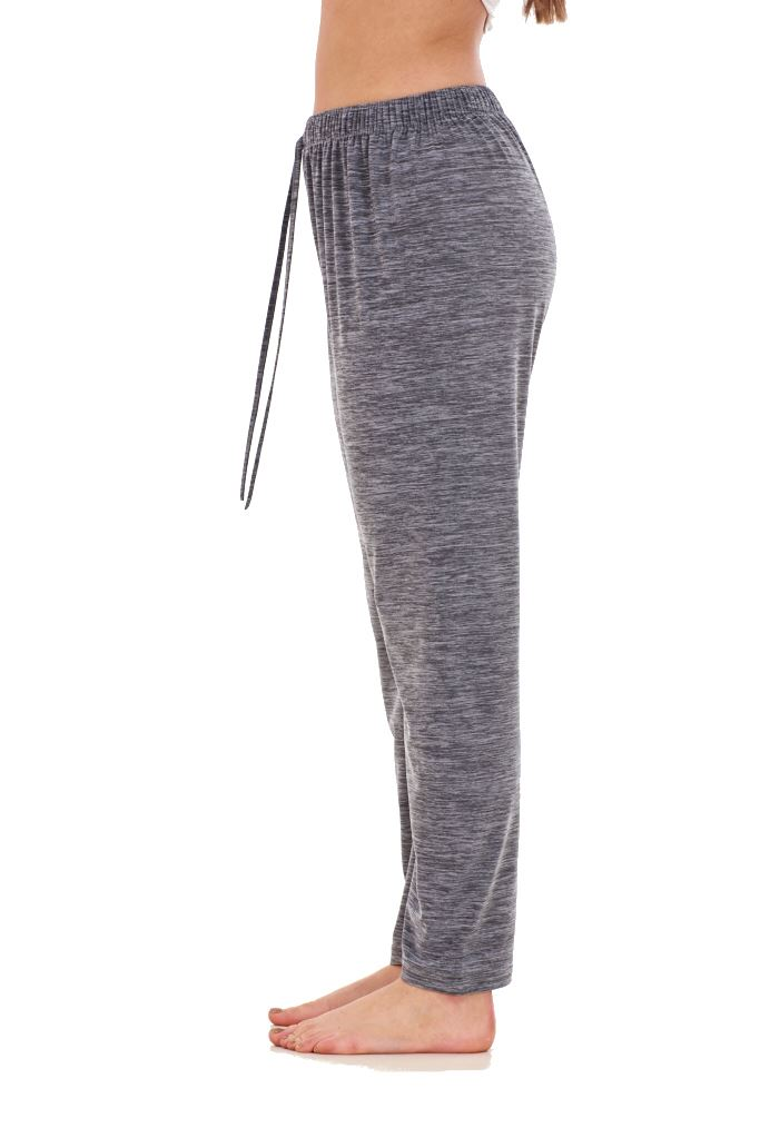 Ladies-Women-Trouser-Elasticated-Tapered-High-waist-ITY-Regular-Pants-Black thumbnail 12