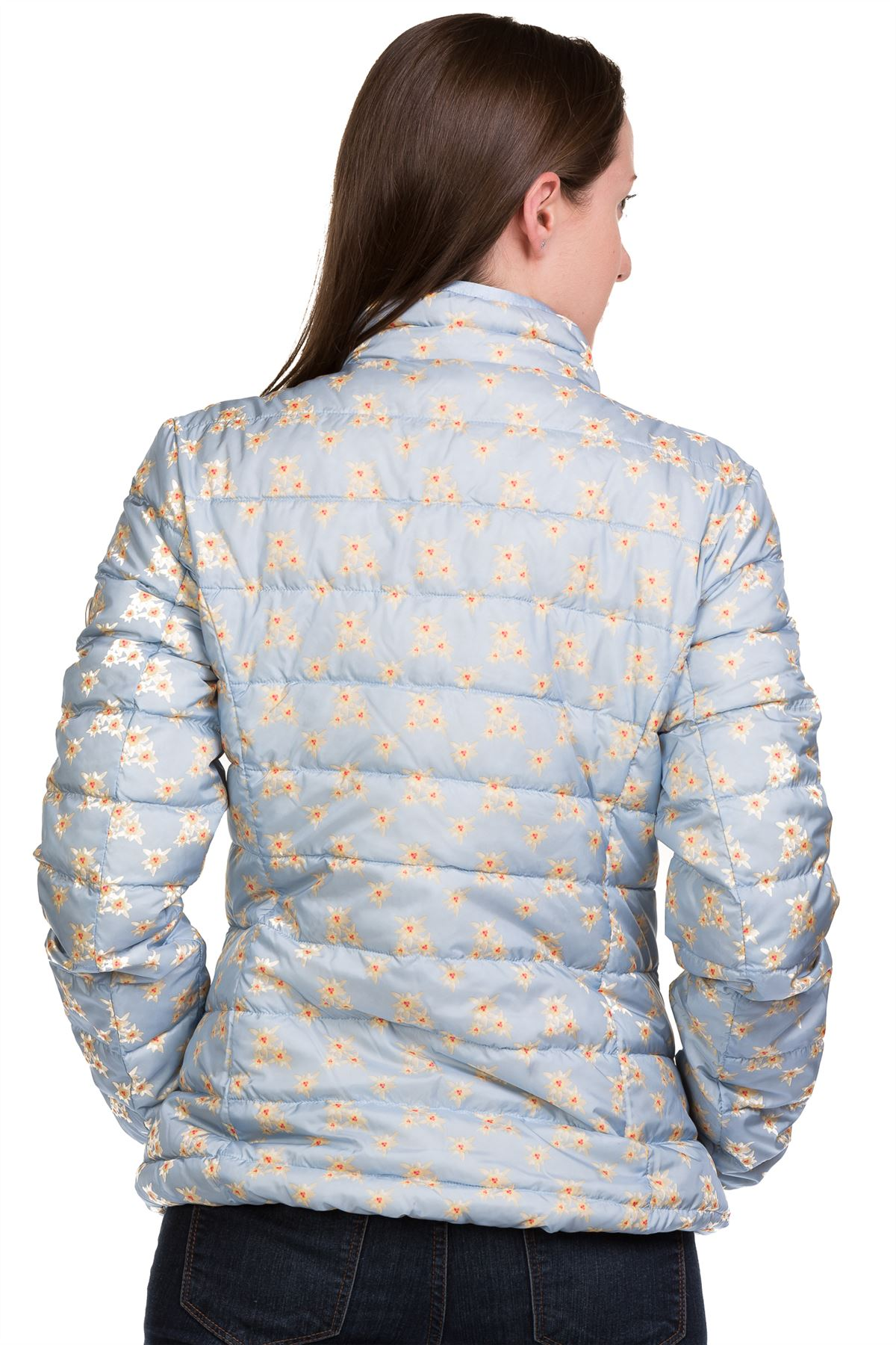 Ladies-Padded-Jacket-Down-Feather-Lining-Plain-Lightweight-Quilted-Floral-Coats thumbnail 4