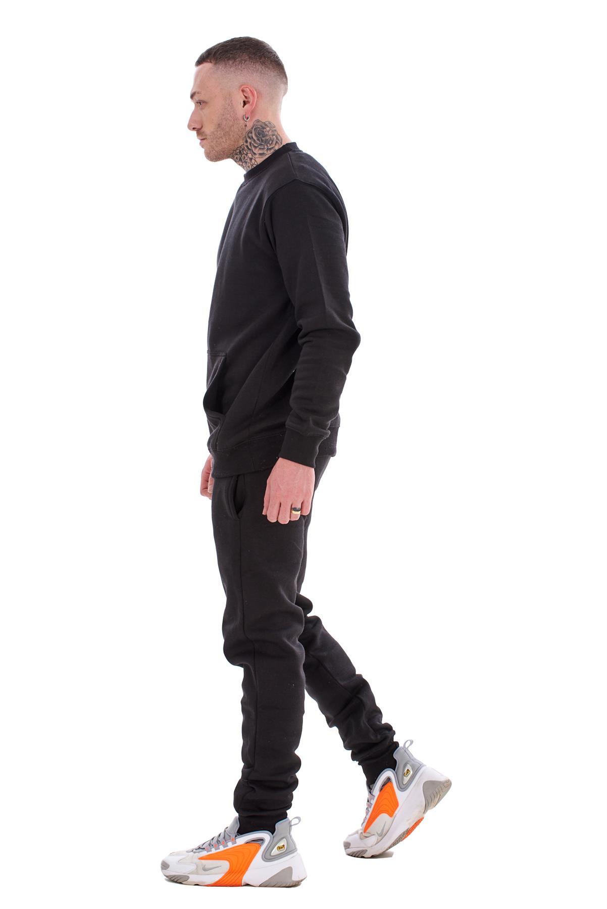 Mens-Plain-Tracksuit-Branded-Fleece-Pullover-Sweatshirts-Cotton-Jogging-Bottoms thumbnail 6