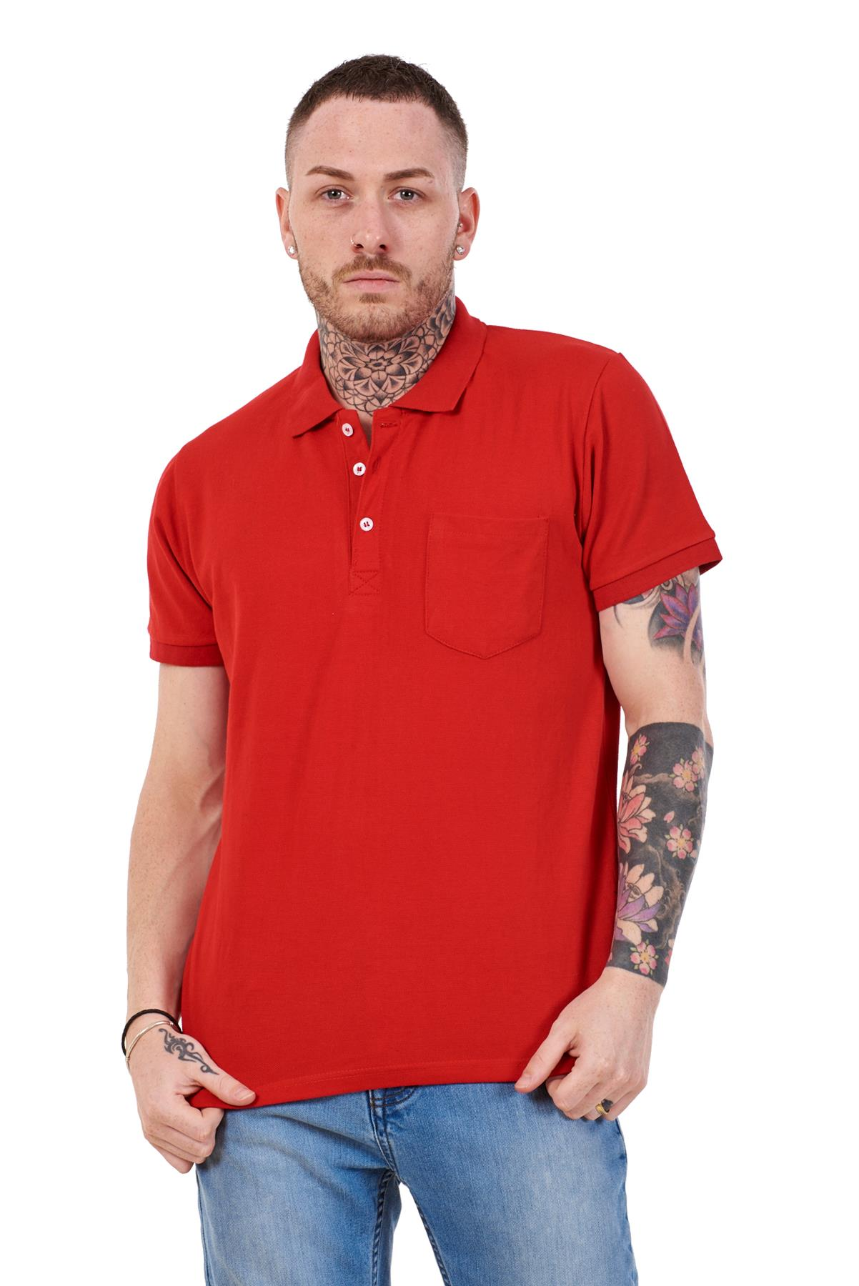 Mens-Cotton-T-Shirts-Regular-fit-Plain-Polo-Pocket-Casual-Formal-Shirt-Top-M-XXL thumbnail 24