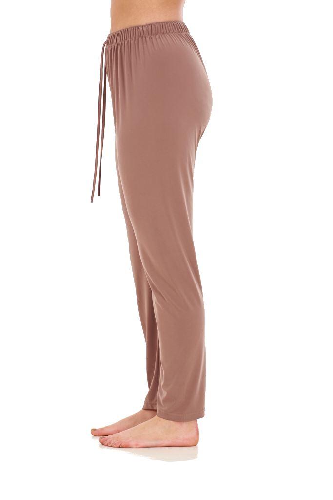 Ladies-Women-Trouser-Elasticated-Tapered-High-waist-ITY-Regular-Pants-Black thumbnail 4