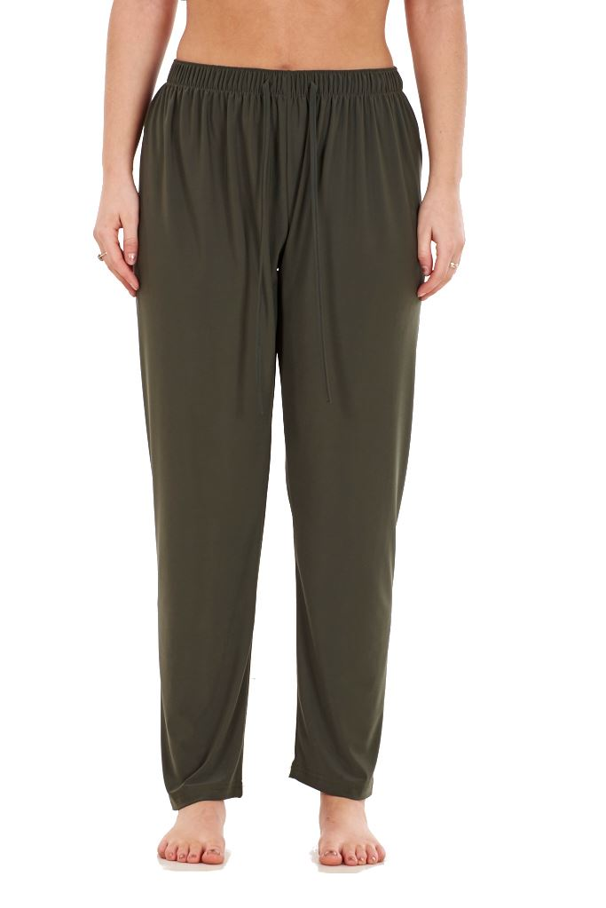 Ladies-Women-Trouser-Elasticated-Tapered-High-waist-ITY-Regular-Pants-Black thumbnail 15