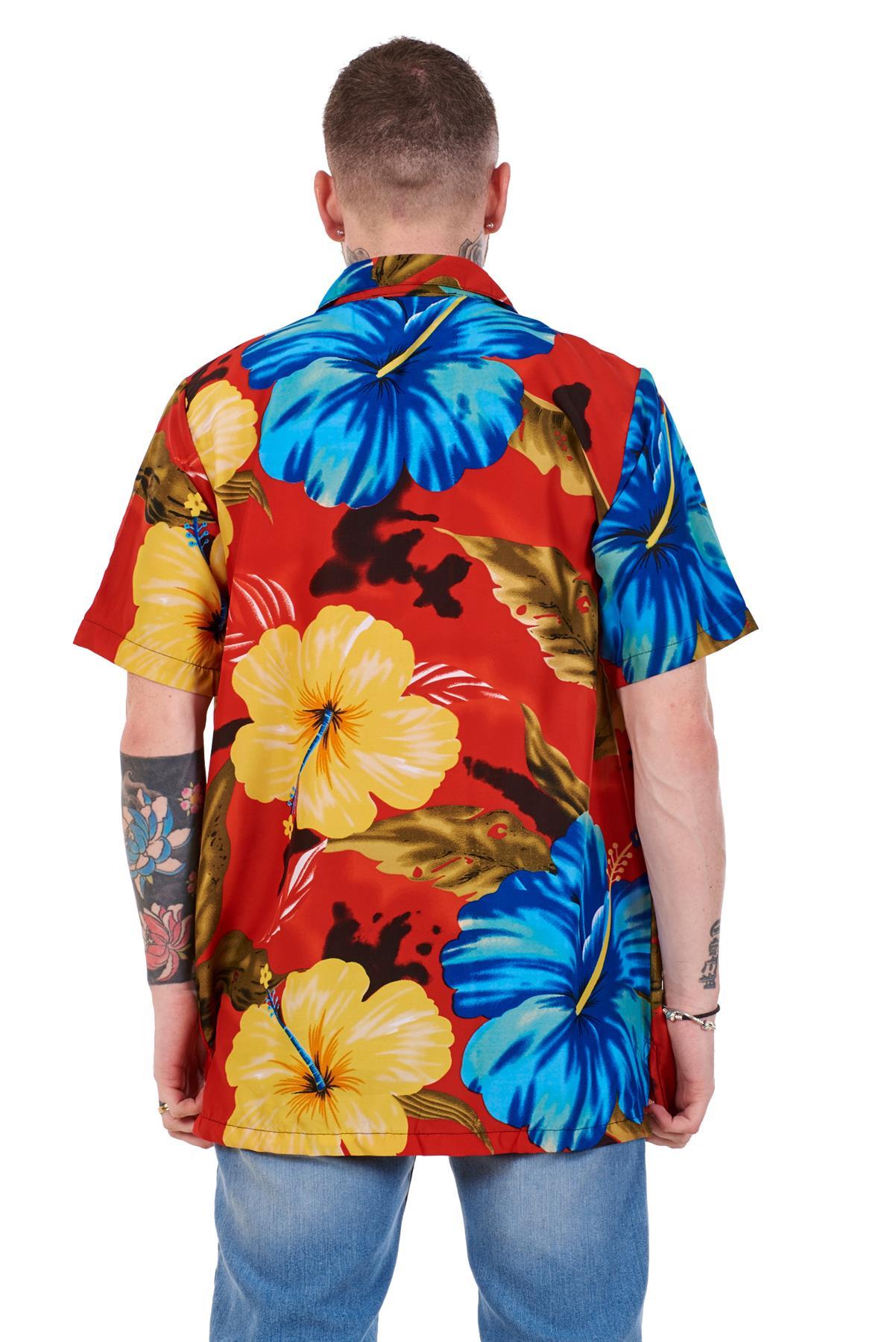 Mens-Hawaiian-Shirt-Multi-Colors-Print-Regular-Big-Size-Summer-Fancy-Dress-M-5XL thumbnail 37