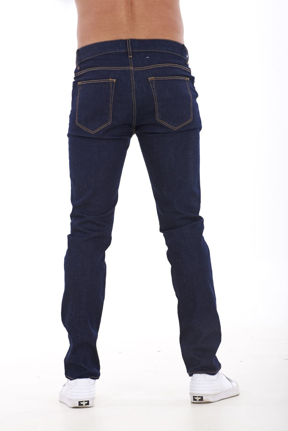 NUOVA-Linea-Uomo-Ragazzi-Slim-Fit-Stretch-Qualita-Jeans-Regolare-Pantaloni-con-marchio-SMART-30-40 miniatura 13