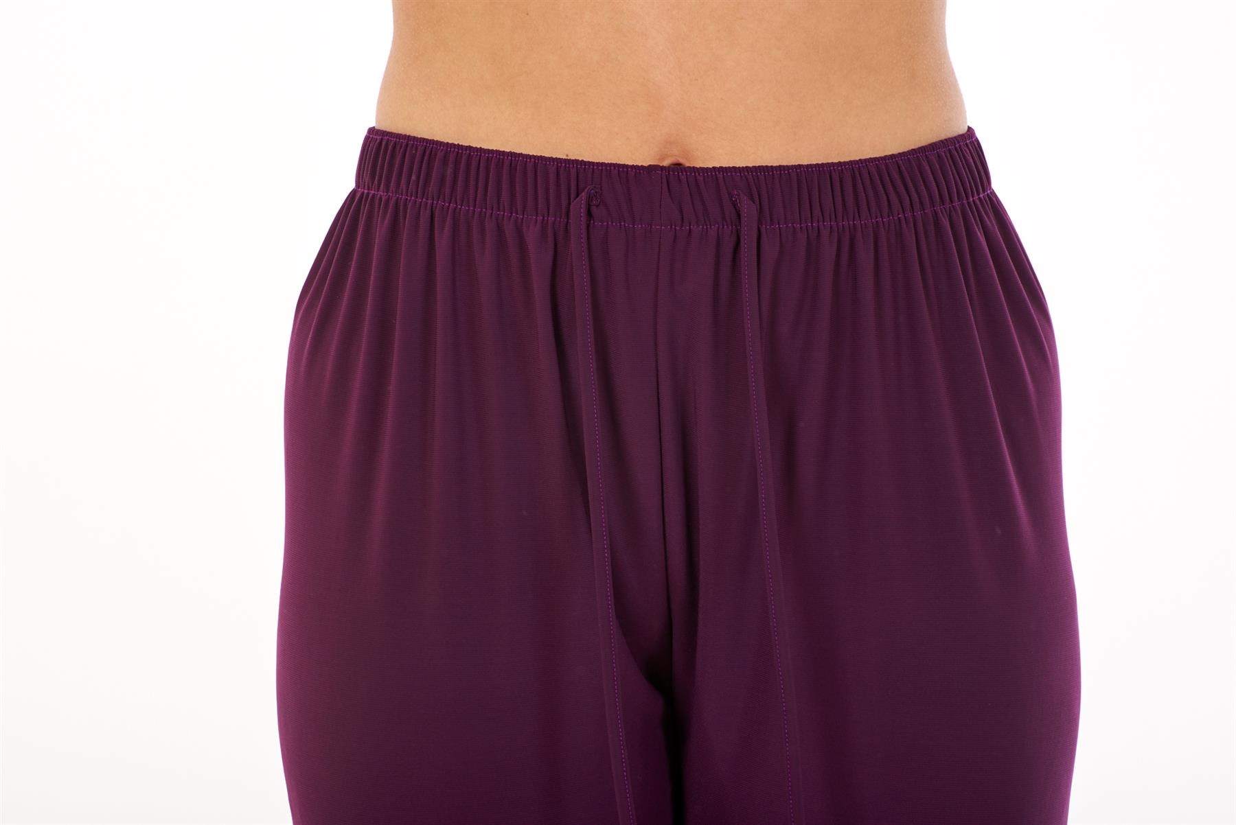 Ladies-Women-Trouser-Elasticated-Tapered-High-waist-ITY-Regular-Pants-Black thumbnail 33