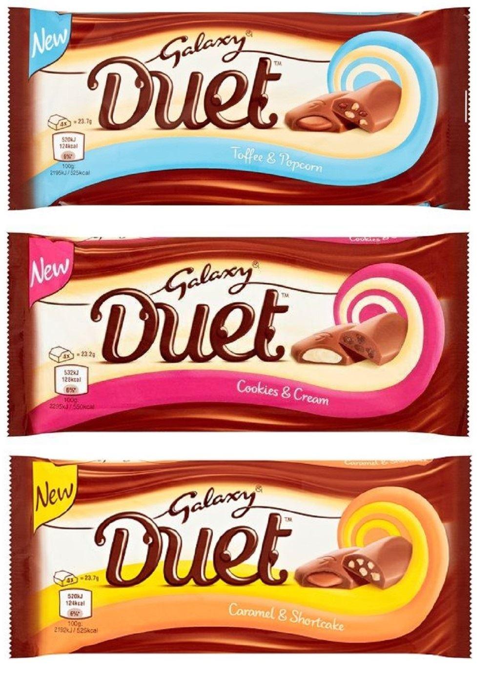 24 Bars Galaxy Duet Chocolate Bars 8 Of Each Cookies Cream ...