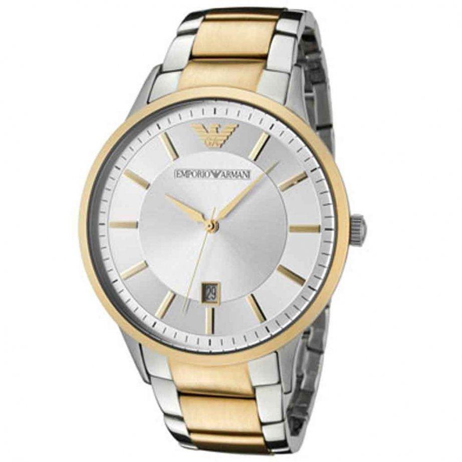 emporio armani mens two tone gold amp silver stainless steel emporio armani mens two tone gold silver stainless steel watch ar2449