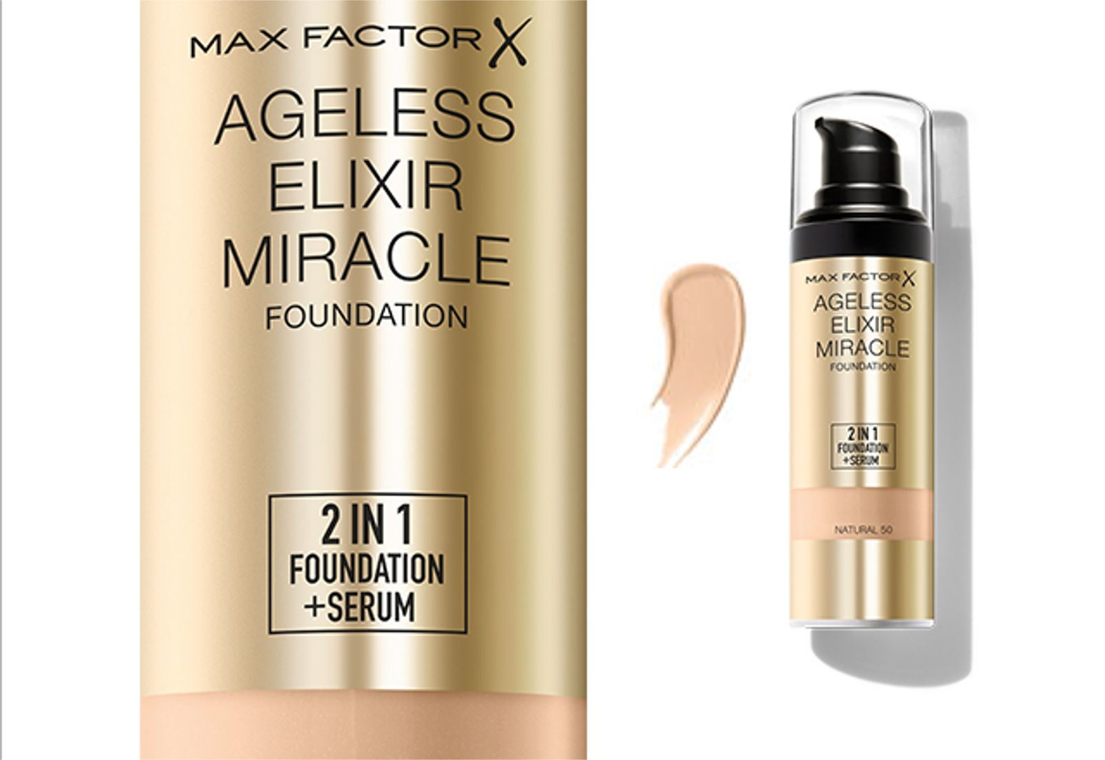max factor ageless elixir miracle 2 in 1 foundation serum various shades ebay. Black Bedroom Furniture Sets. Home Design Ideas