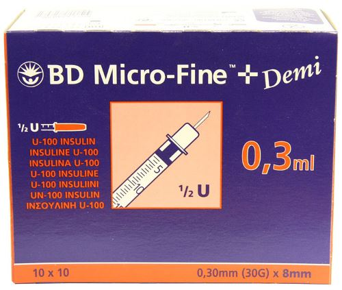 bd safetyglide insulin syringe instructions