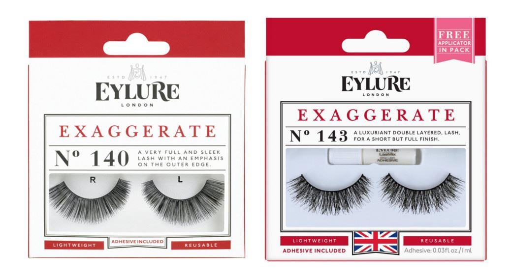 5c7ba042f5c Eylure False Lashes Exaggerate No. 140 or No.143 Strip Eyelashes   eBay