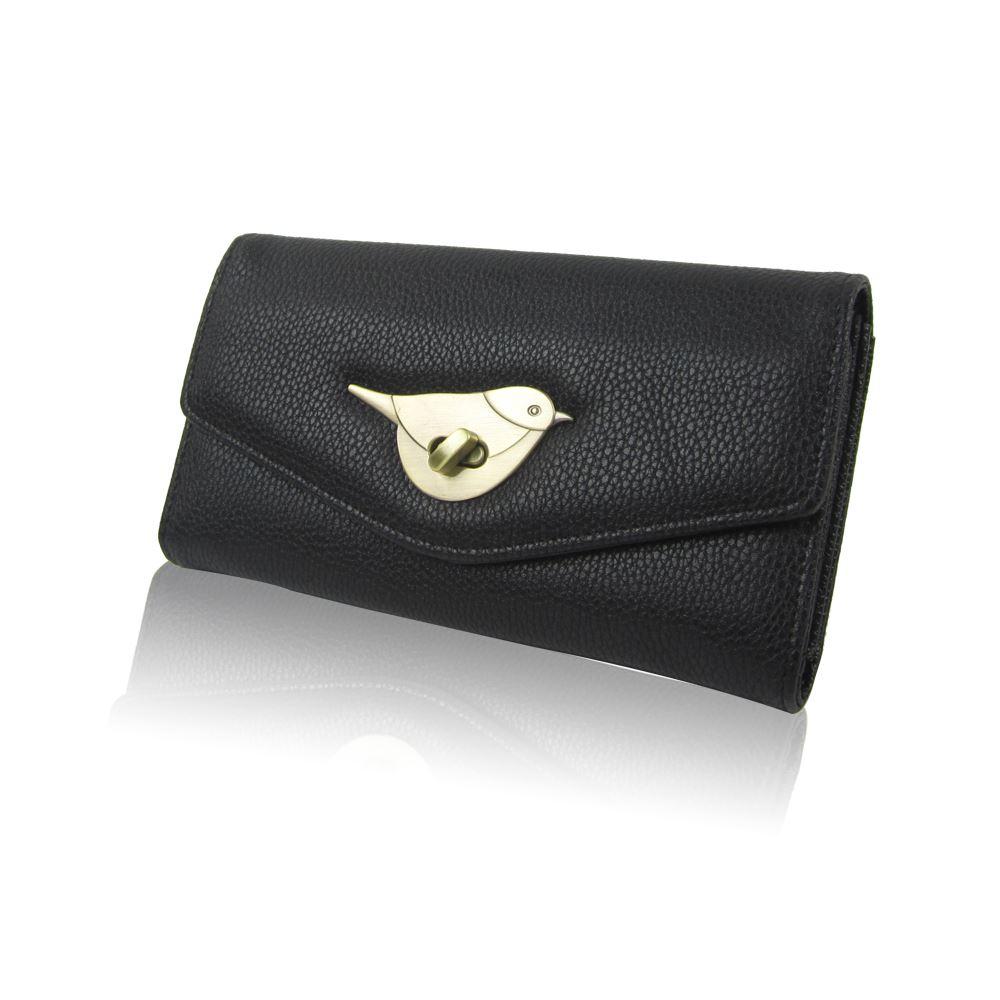 Womens-Designer-Style-Purse-Clasp-Close-Wallet-Girls-PU-Coin-Holder-Bird-Design thumbnail 9
