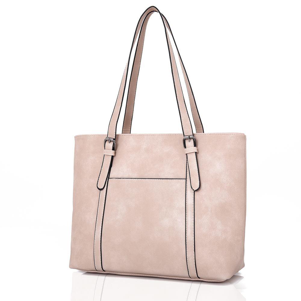 New-Women-039-s-Large-Designer-Style-PU-Leather-Tote-Shopper-Hand-Bag miniatura 3