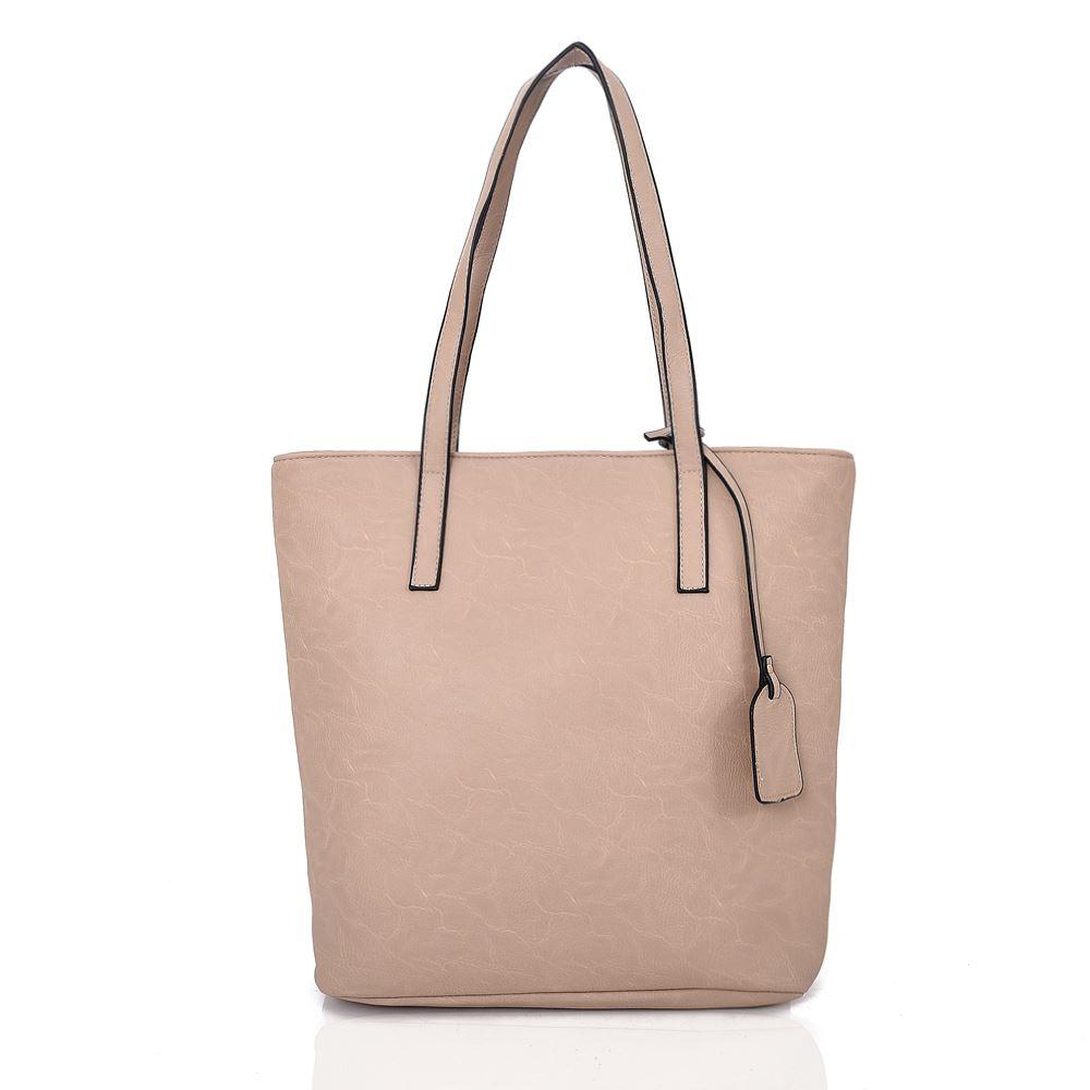 Women-039-s-Large-Designer-Style-PU-Leather-Tassel-Tote-Shopper-Hand-Bag