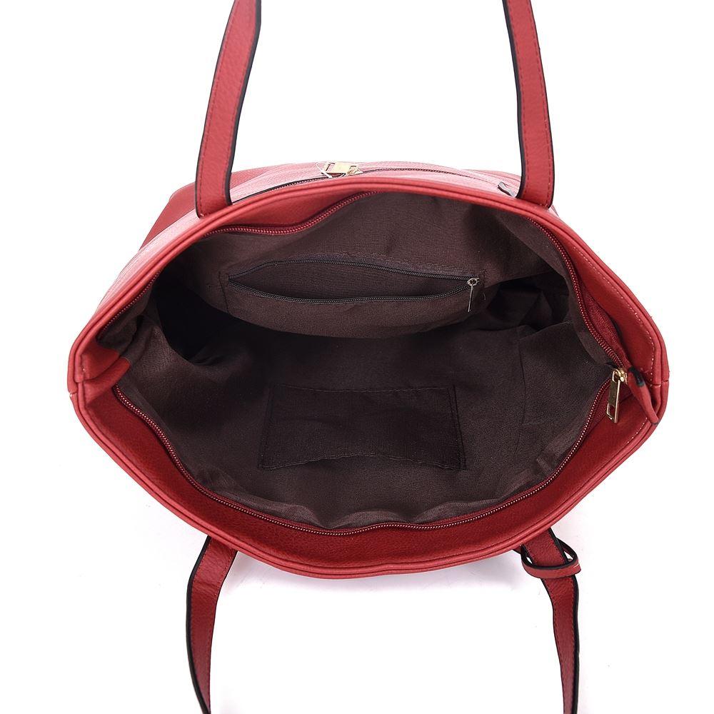 Women-039-s-Grande-Designer-Style-PU-Pelle-Nappa-Tote-Shopper-Borsa-a-mano