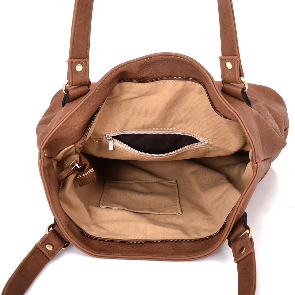 Women-039-s-Large-Designer-Style-PU-Leather-Shopper-Ladies-HandBag thumbnail 13