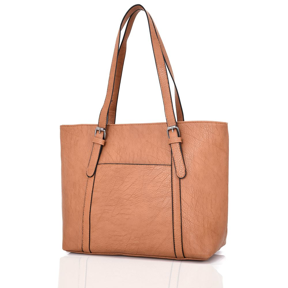 New-Women-039-s-Large-Designer-Style-PU-Leather-Tote-Shopper-Hand-Bag miniatura 15