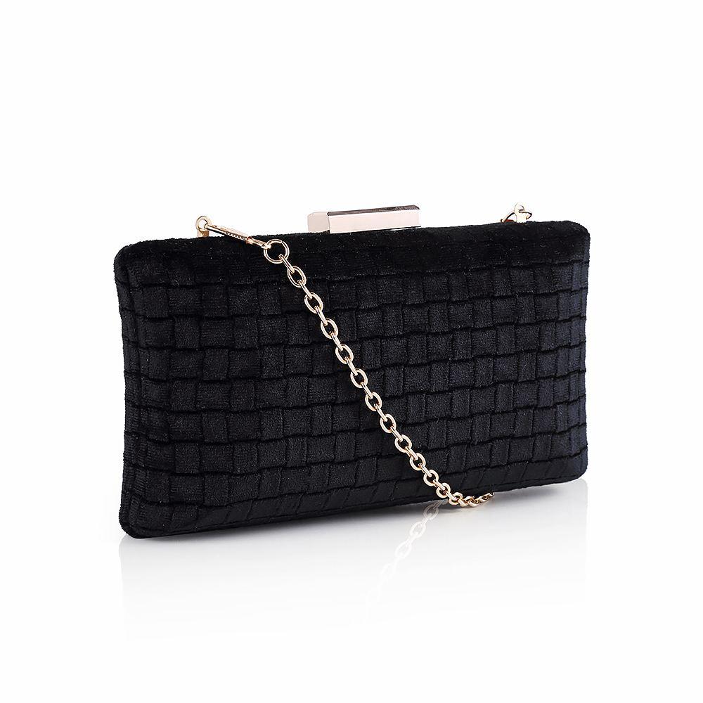 29503e04211 Women's Velvet Box Clutch Bag Womens Evening Bag Handbag with ...