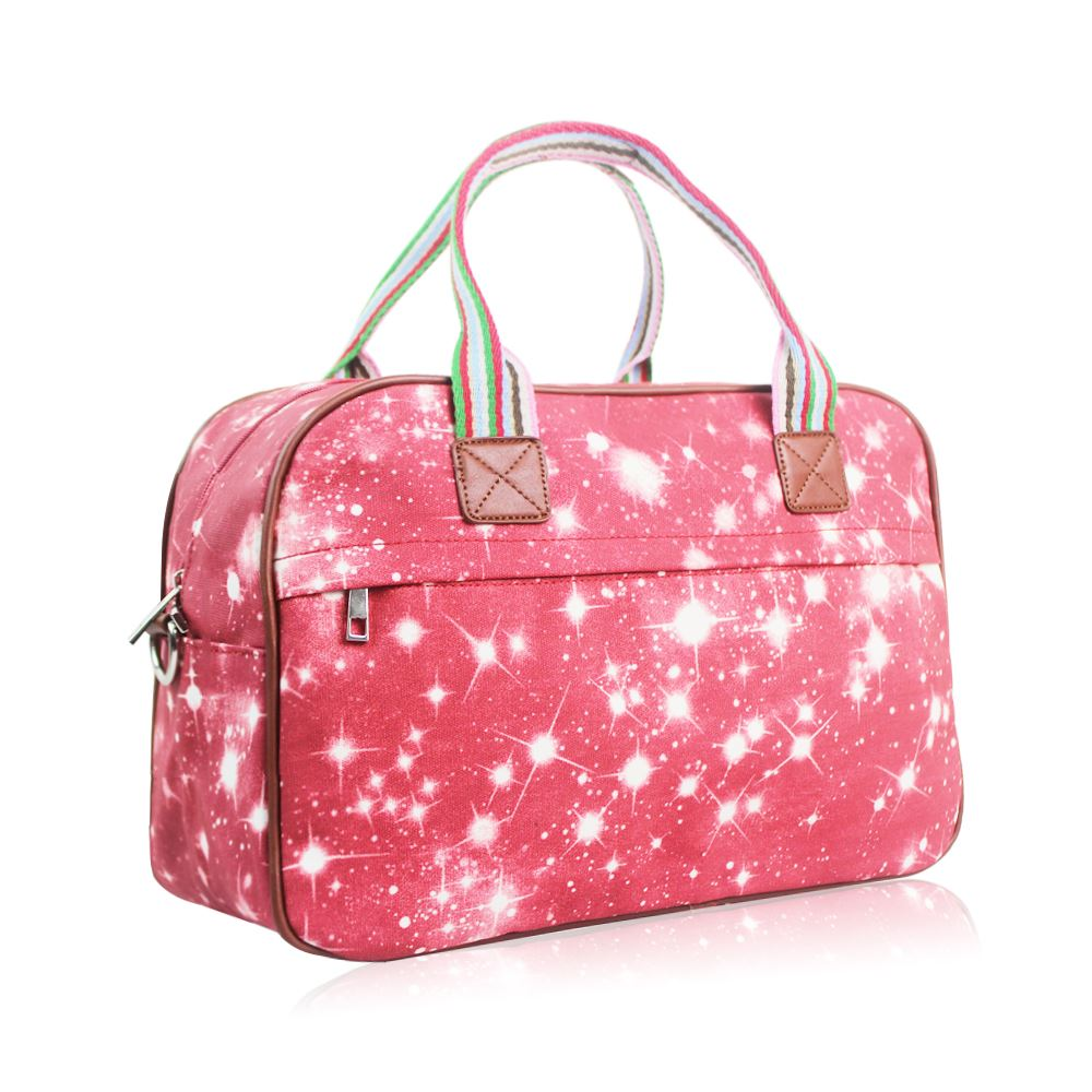 ce98099289ff Details about Women's Large Weekend Bag Ladies Galaxy Print Overnight Bag  Girls Stylish Bag