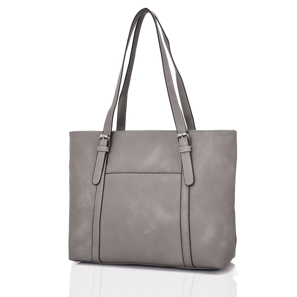 New-Women-039-s-Large-Designer-Style-PU-Leather-Tote-Shopper-Hand-Bag miniatura 9