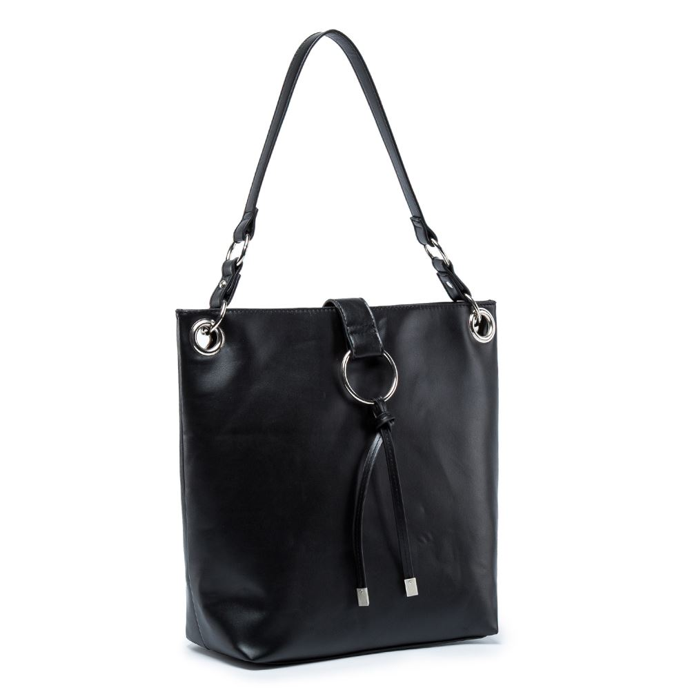 Women-039-s-Tote-Tassel-Ring-Handbag-Shoulder-Simple-Everyday-Bag thumbnail 3
