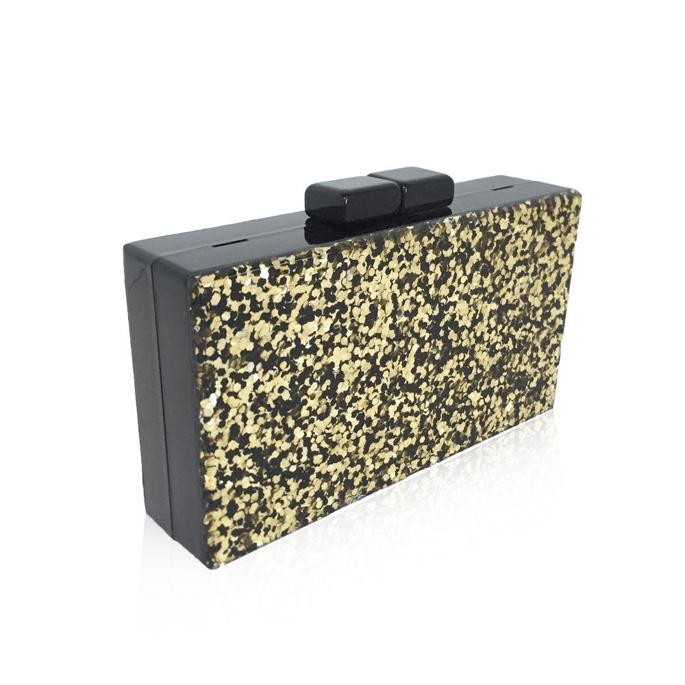 New-Womens-Glitter-Hard-Case-Clutch-Bag-Girls-Glitter-Bag-Women-039-s-Evening-Bag thumbnail 21