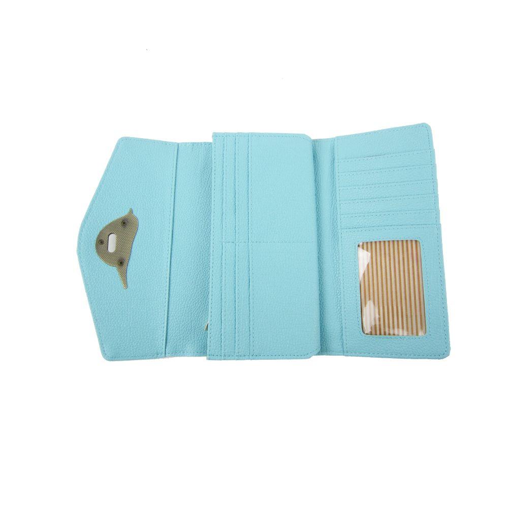 Womens-Designer-Style-Purse-Clasp-Close-Wallet-Girls-PU-Coin-Holder-Bird-Design thumbnail 16