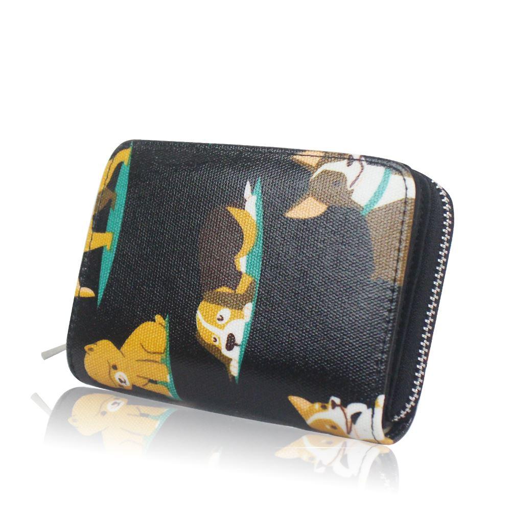 New-Womens-ShortPurse-Girls-Dog-Print-Wallet-Ladies-Oilcloth-Coin-Purse thumbnail 6