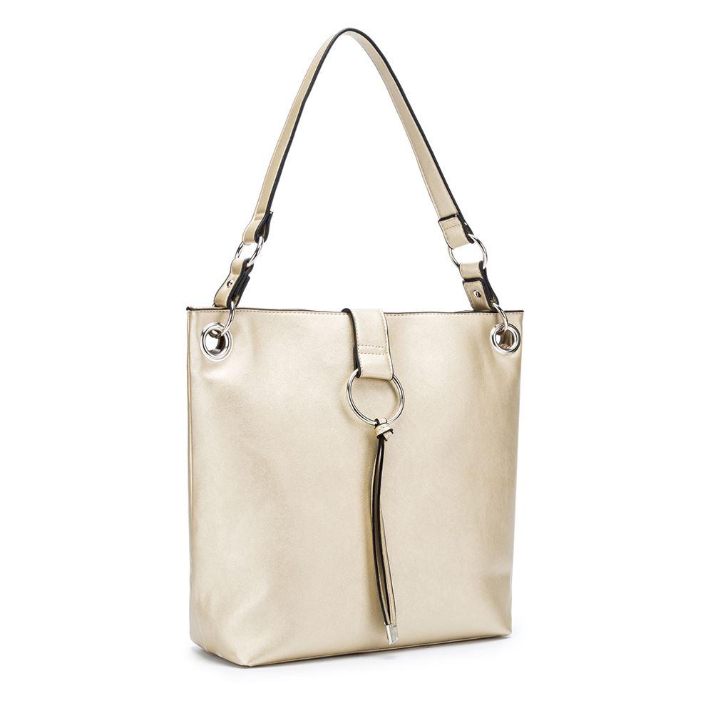 Women-039-s-Tote-Tassel-Ring-Handbag-Shoulder-Simple-Everyday-Bag thumbnail 9