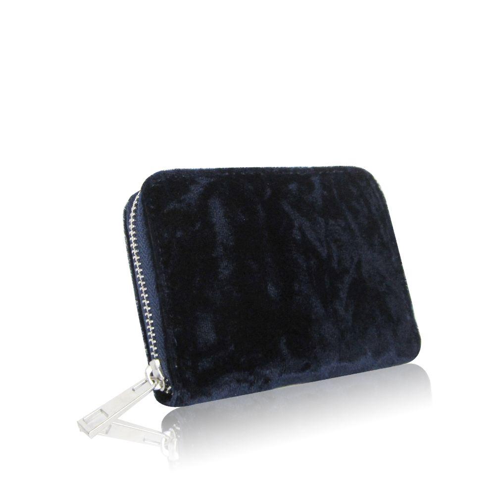 Women-039-s-Designer-Style-Velvet-Small-Zip-Purse-Zip-Close-Wallet-Girls-Purse thumbnail 13