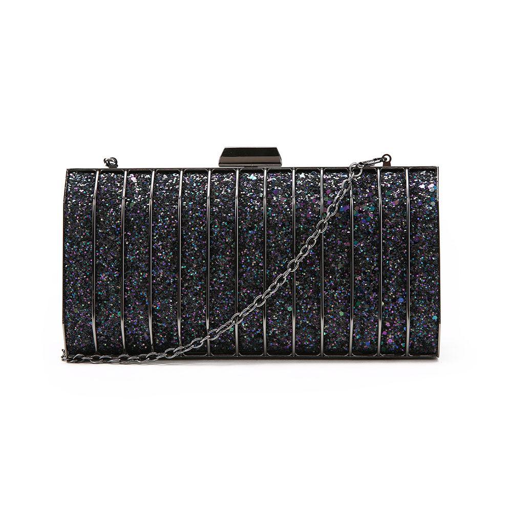 New-Womens-Glitter-Hard-Case-Clutch-Bag-Girls-Glitter-Bag-Women-039-s-Evening-Bag thumbnail 11