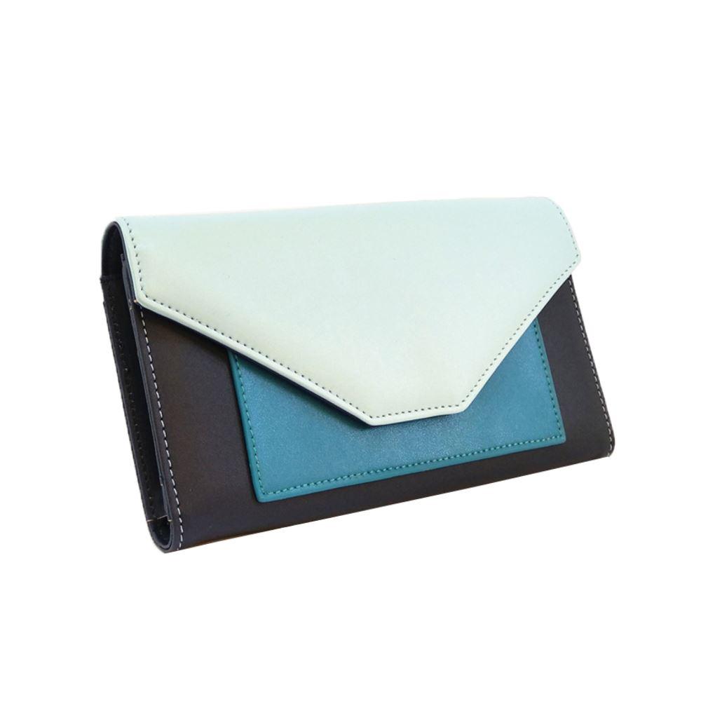 New-Edie-PU-Purse-Envelop-Colour-Block-Flap-Over-Basic-Wallet-Casual-Card-Slot thumbnail 10