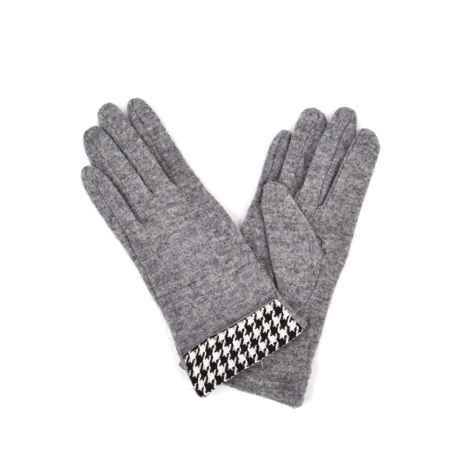 Womens Wool Gloves With Houndstooth Pattern Ladies Winter Gloves | eBay