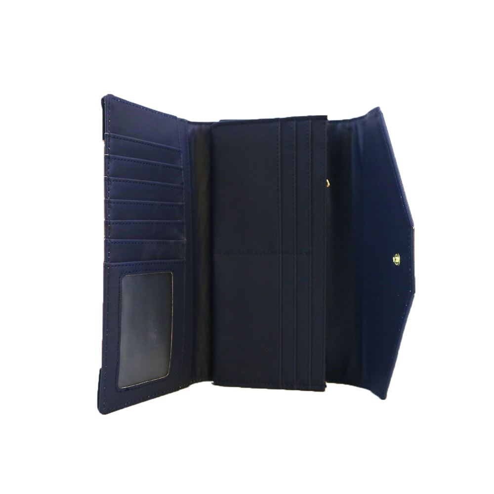 New-Edie-PU-Purse-Envelop-Colour-Block-Flap-Over-Basic-Wallet-Casual-Card-Slot thumbnail 9