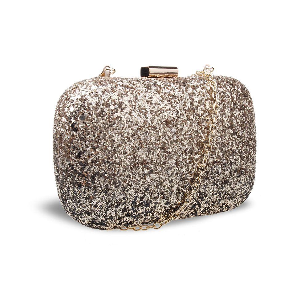 New-Womens-Glitter-Hard-Case-Clutch-Bag-Girls-Glitter-Bag-Women-039-s-Evening-Bag thumbnail 3