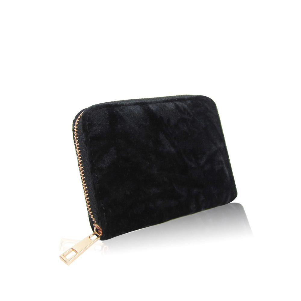 Women-039-s-Designer-Style-Velvet-Small-Zip-Purse-Zip-Close-Wallet-Girls-Purse thumbnail 4