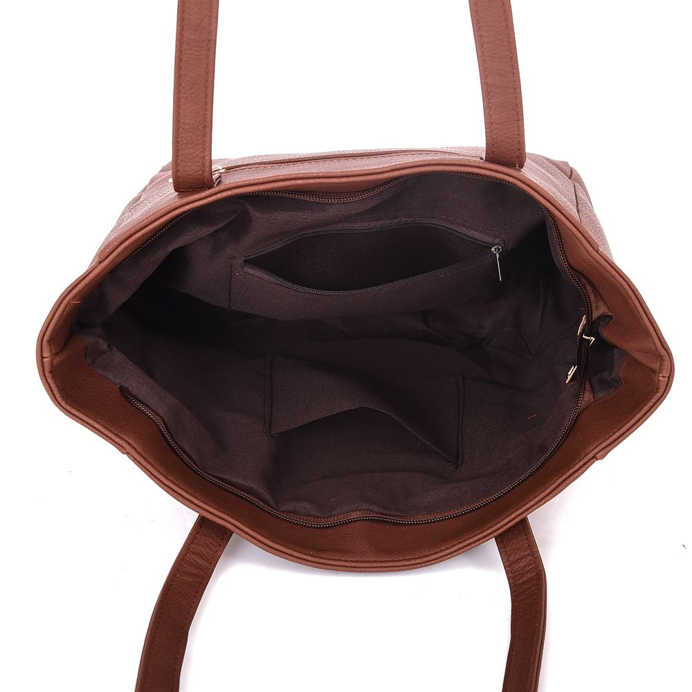 New-Women-039-s-Large-Designer-Style-PU-Leather-Tote-Shopper-Hand-Bag