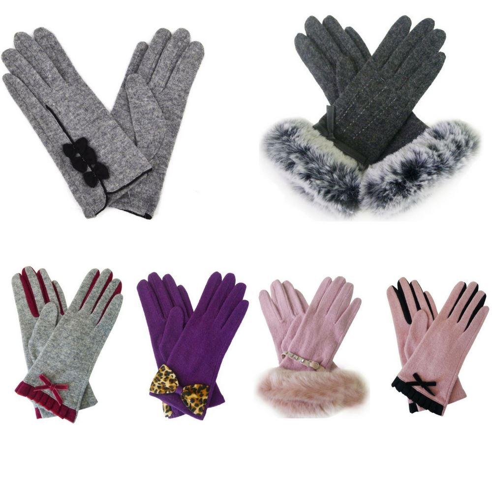 64bfffa6ebd New Womens Designer Style Wool Gloves Ladies Winter Gloves Free UK ...