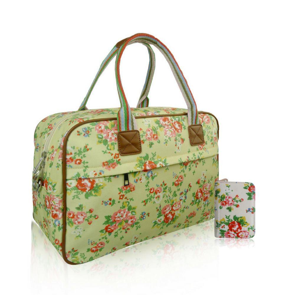 Women s Floral Overnight Bag   Purse Women Hand Weekend Luggage   Purse Set  Gift 49d91f0cbb433
