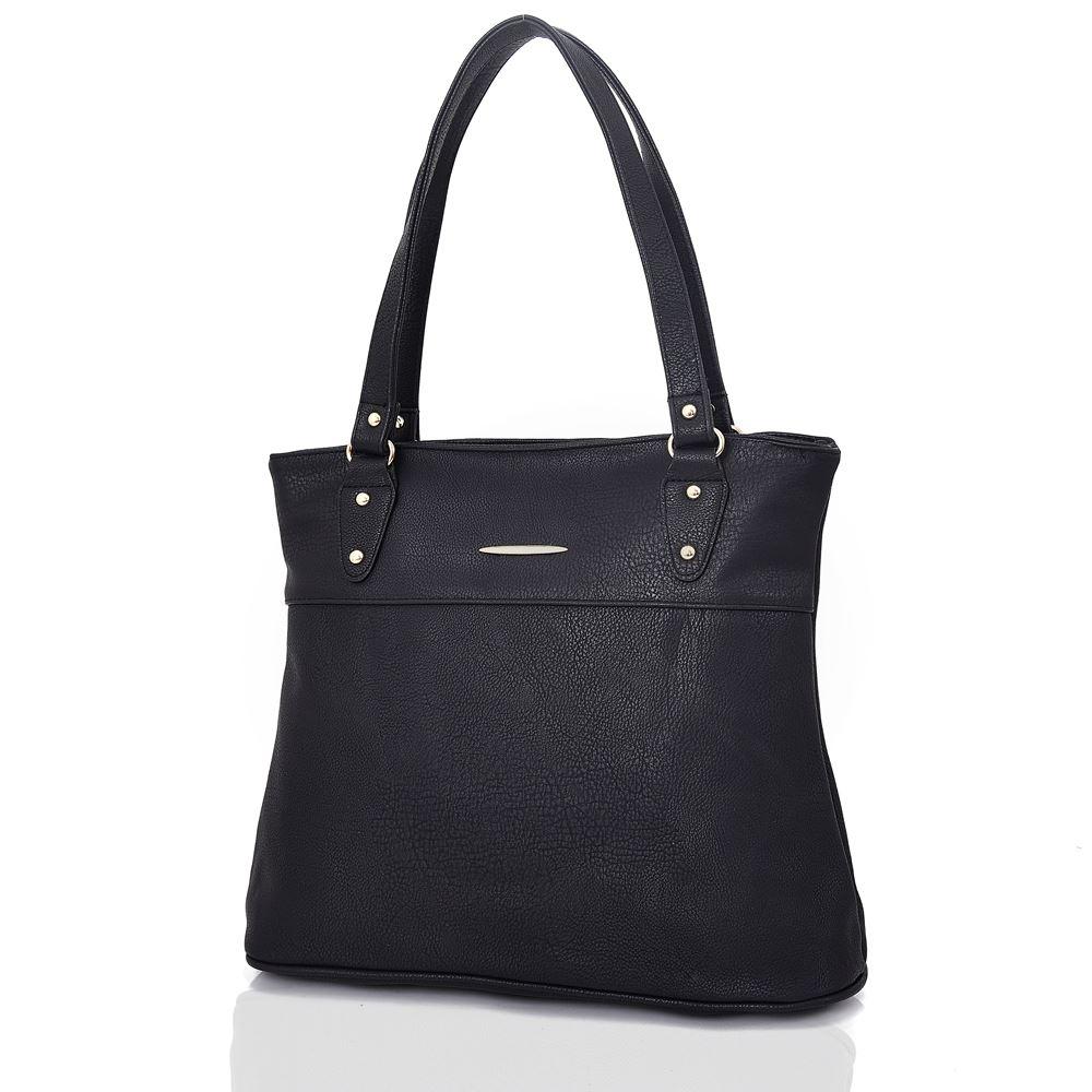 Women-039-s-Large-Designer-Style-PU-Leather-Shopper-Ladies-HandBag thumbnail 3