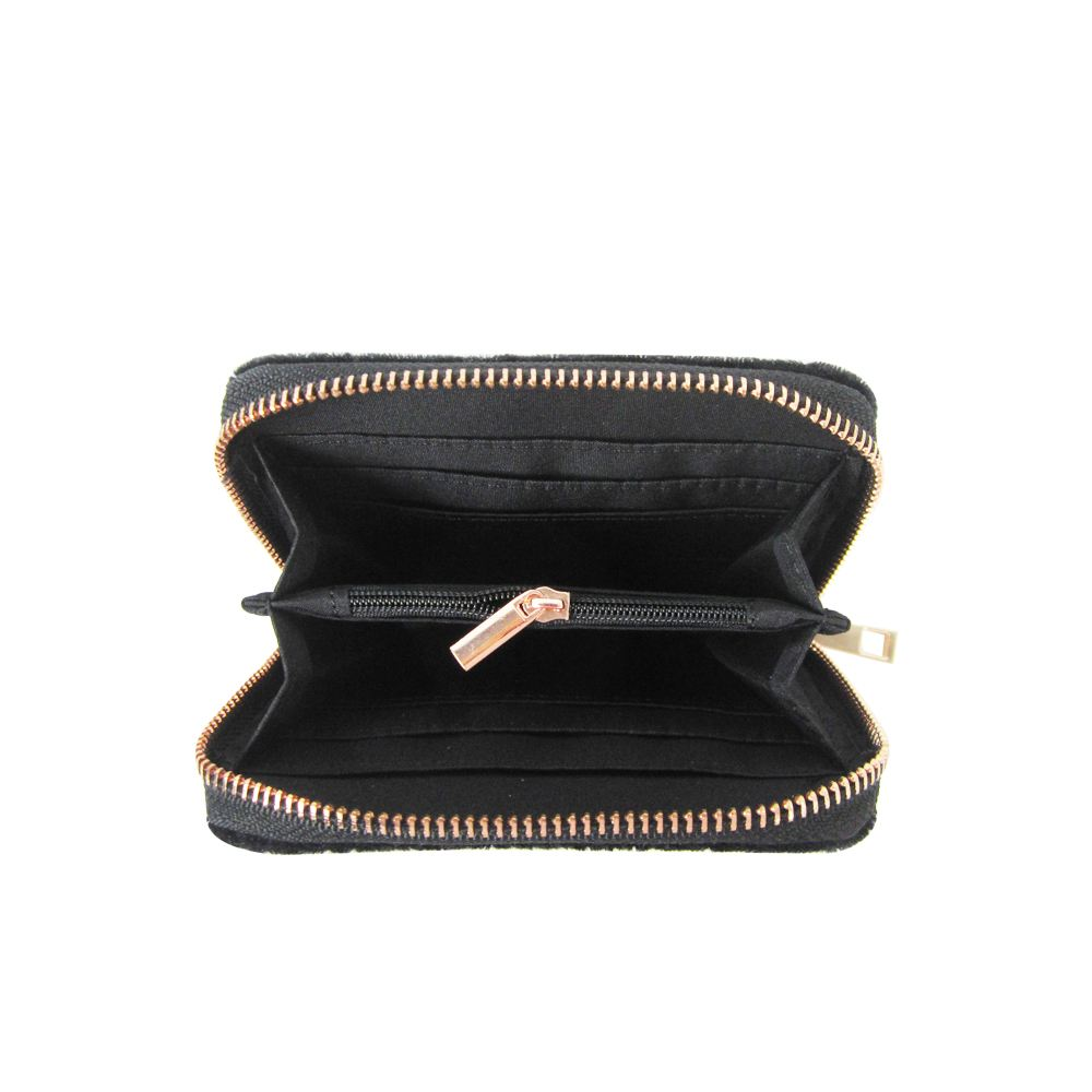 Women-039-s-Designer-Style-Velvet-Small-Zip-Purse-Zip-Close-Wallet-Girls-Purse thumbnail 5