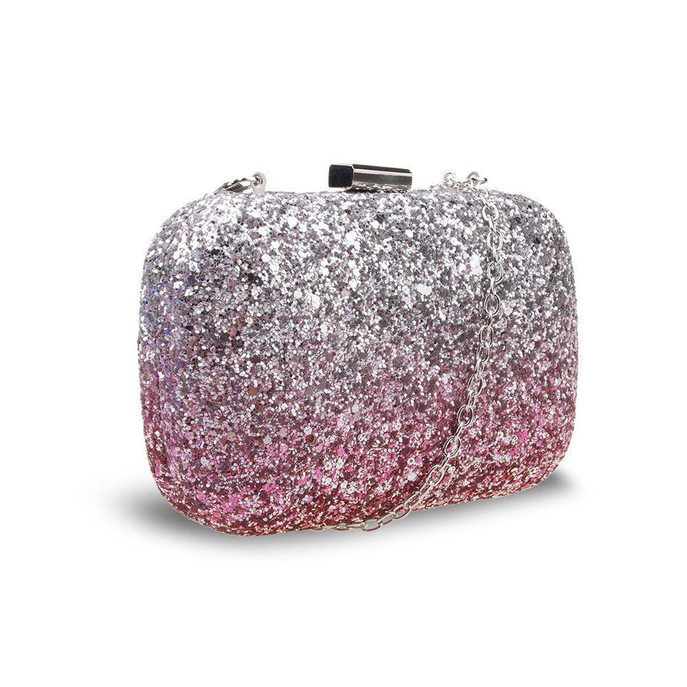 New-Womens-Glitter-Hard-Case-Clutch-Bag-Girls-Glitter-Bag-Women-039-s-Evening-Bag thumbnail 9