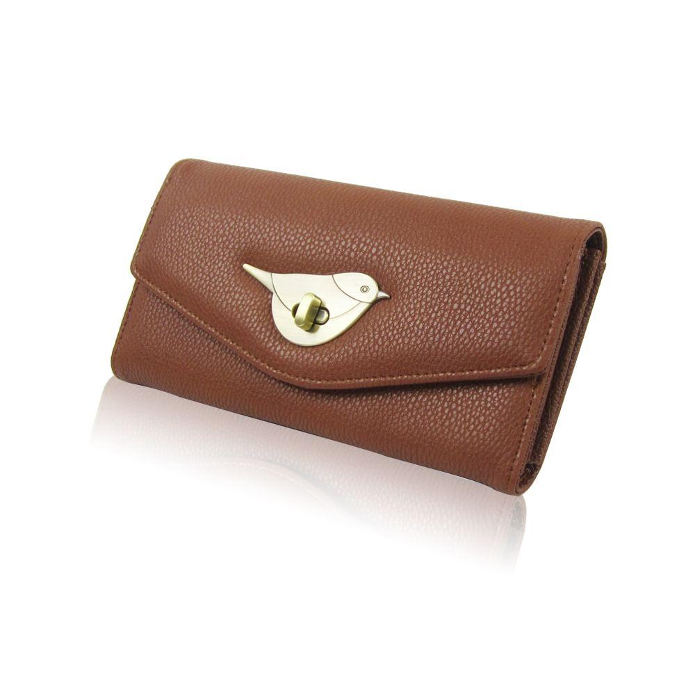Womens-Designer-Style-Purse-Clasp-Close-Wallet-Girls-PU-Coin-Holder-Bird-Design thumbnail 12