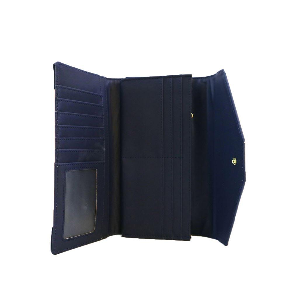 New-Edie-PU-Purse-Envelop-Colour-Block-Flap-Over-Basic-Wallet-Casual-Card-Slot thumbnail 3