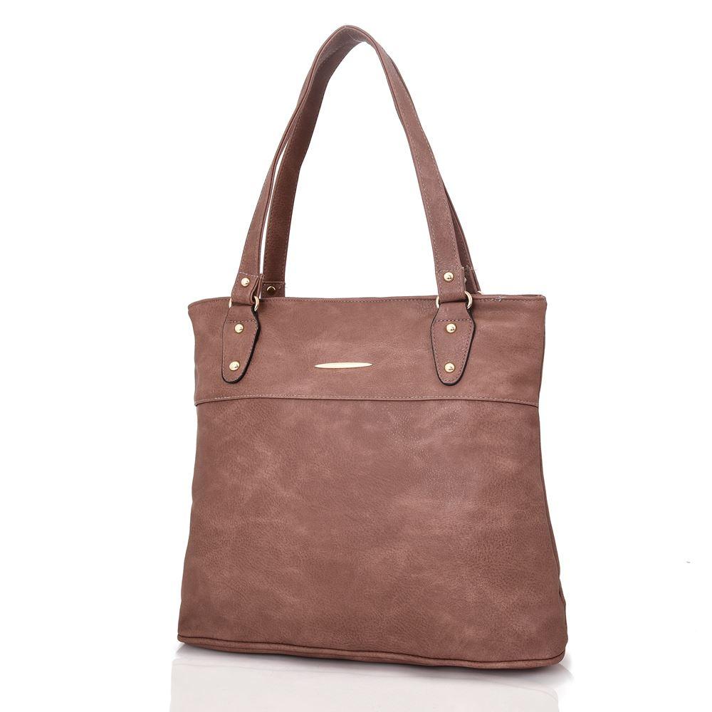 Women-039-s-Large-Designer-Style-PU-Leather-Shopper-Ladies-HandBag thumbnail 9