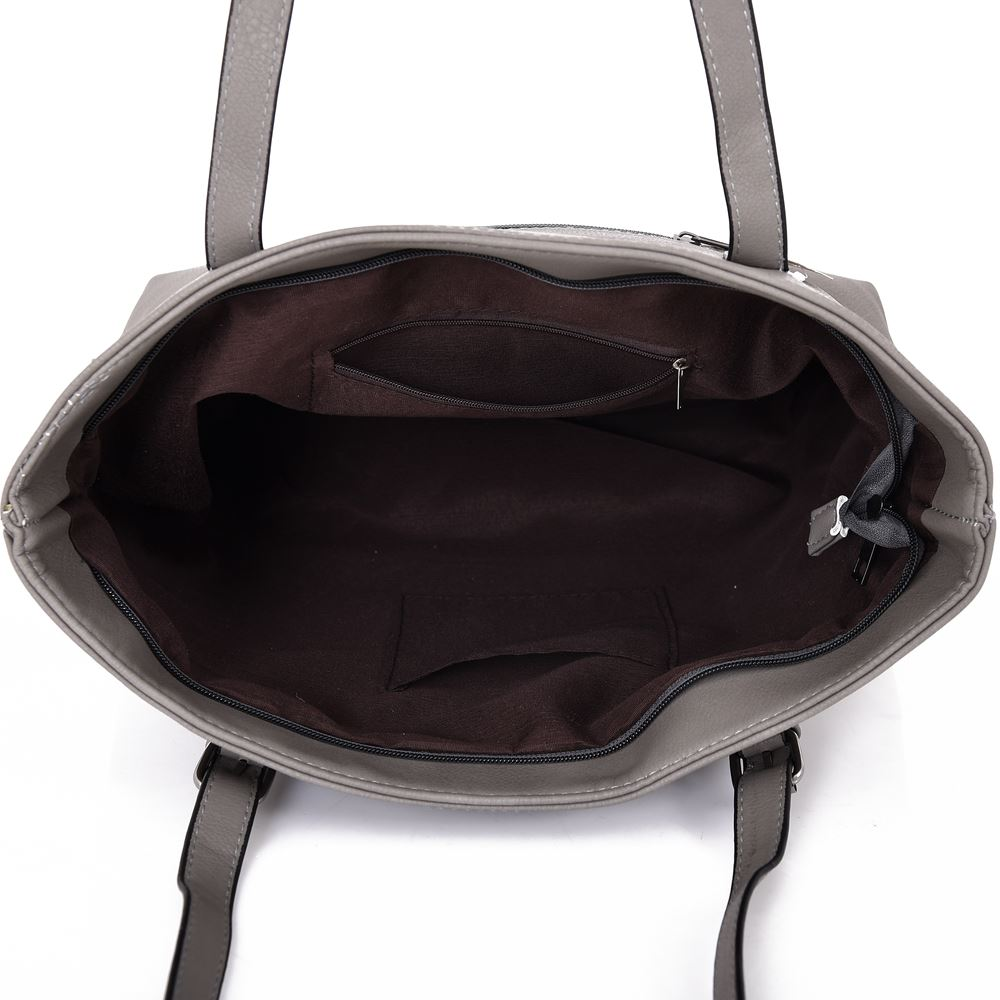 New-Women-039-s-Large-Designer-Style-PU-Leather-Tote-Shopper-Hand-Bag miniatura 10