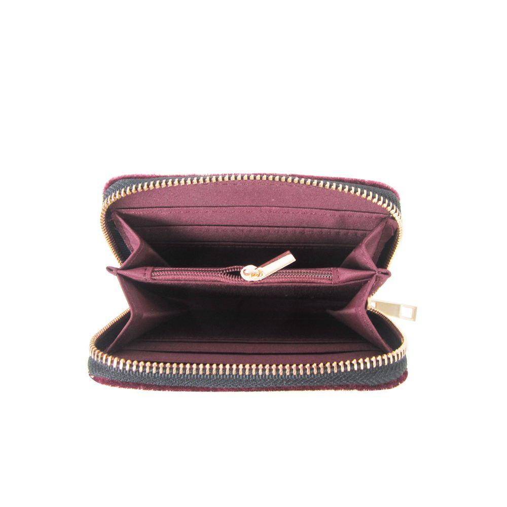 Women-039-s-Designer-Style-Velvet-Small-Zip-Purse-Zip-Close-Wallet-Girls-Purse thumbnail 8