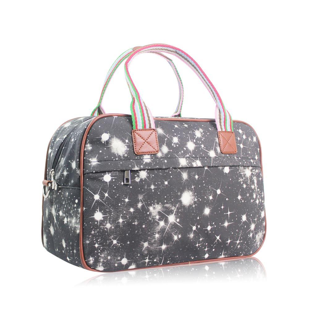a70eef29d6 Women s Large Weekend Bag Ladies Galaxy Print Overnight Bag Girls ...
