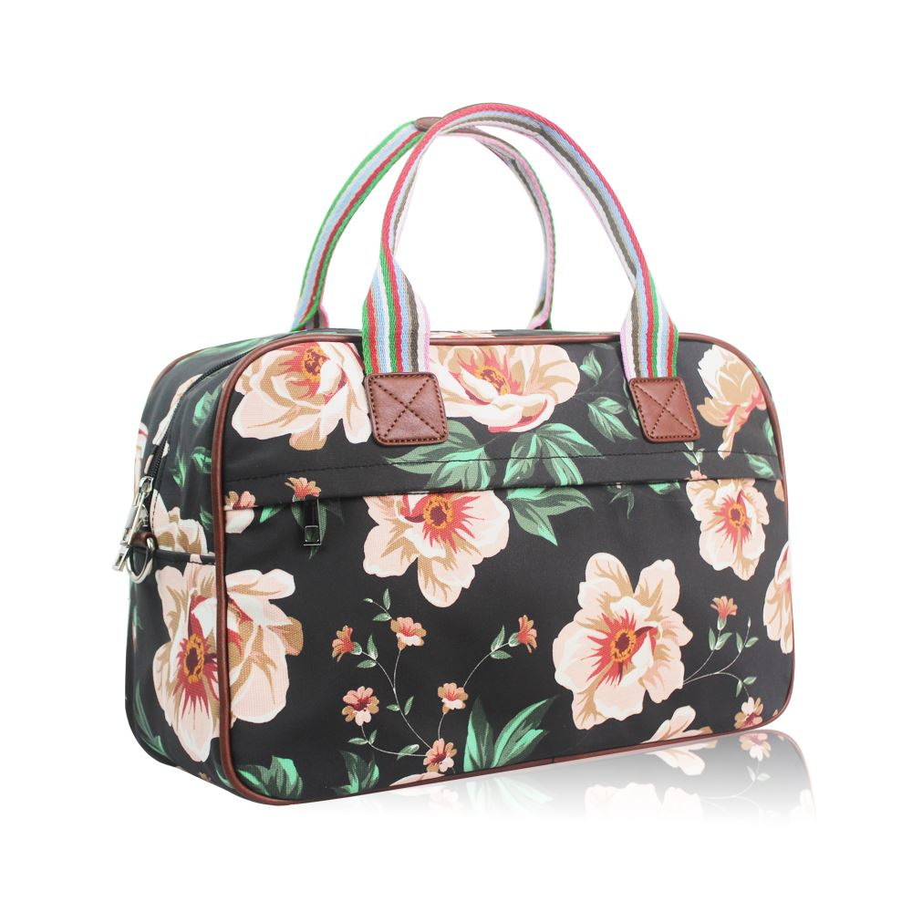 Women s Large Weekend Bag Ladies Floral Overnight Bag Girls Designer ... 016cab2f89