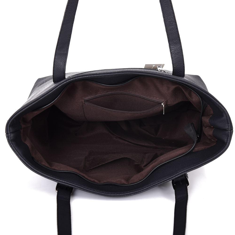 New-Women-039-s-Large-Designer-Style-PU-Leather-Tote-Shopper-Hand-Bag miniatura 7